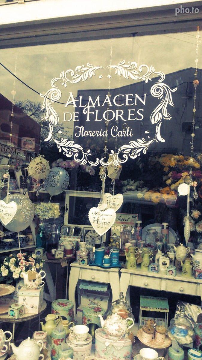 Gráfica del logo de Almacén de flores, Floreria Carli - Moreno 2016 - realizado en material autoadhesivo blanco por Orlapublicidad Castelar — en Moreno . Bs As.