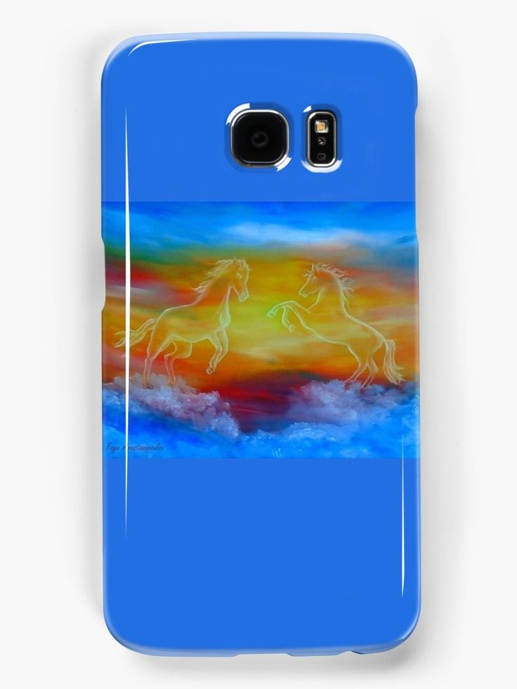 Galaxy Case,   horses,sky,blue,colorful,magical,majestic,impressive,fantasy,cool,beautiful,unique,trendy,artistic,unusual,accessories,for sale,design,items,products,ideas,redbubble