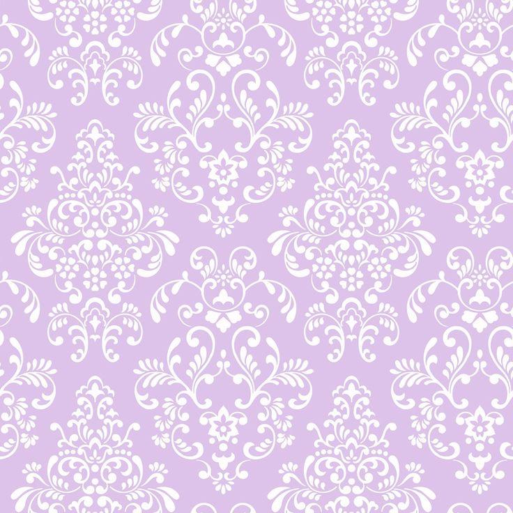 Damask Lilac & White Wallpaper KD1756