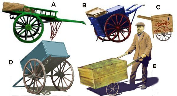 Traders with hand carts