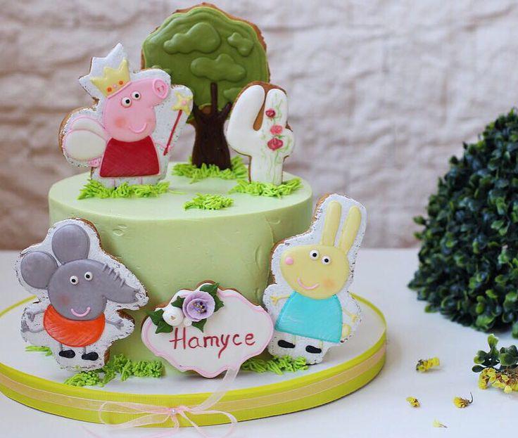 Любимица многих маленьких сладкоежек свинка Пеппа и её друзья✨ в пряничном исполнении