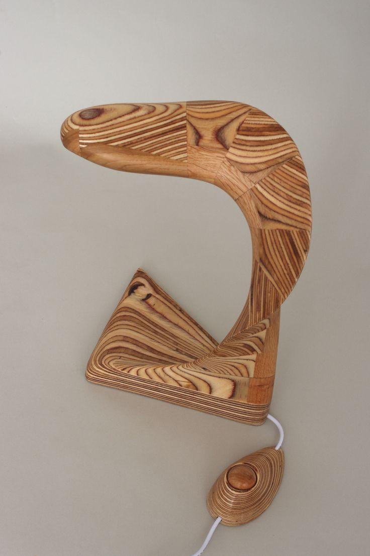 wooden lamp * muren