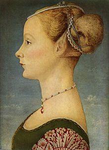 Antonio del Pollaiolo ( o forse il fratello Piero ? ) - Ragazza di profilo ( 1470 - 1475 ), Museo Poldi Pezzoli, Milano.