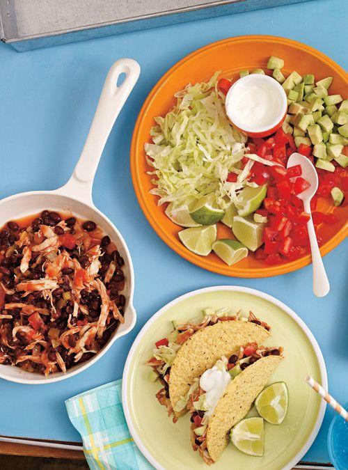 Tacos de poulet aux haricots noirs Recettes   Ricardo