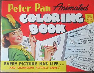 "1943 ""PETER PAN"" Peanut Butter Tie-In Coloring Book."