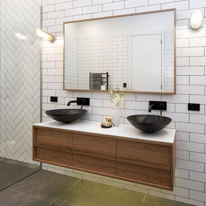 We loved @danandcarleen's deco luxe bathroom - shop the look at The Block Shop. #9theblock #bathroom http://ift.tt/2eR2i1g