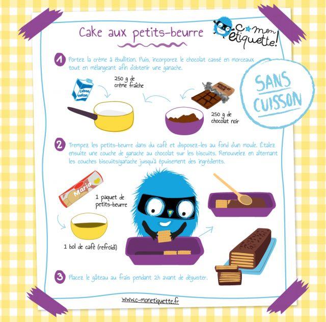 recette de cake avec des petits-beurre