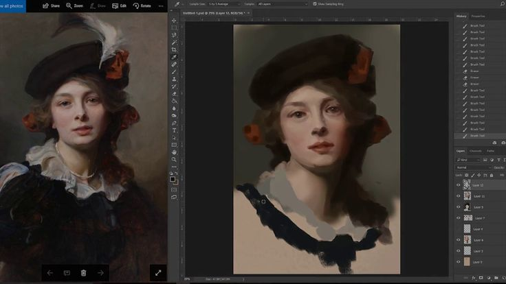 digital painting by contemporary realist artist Moritaka Toko Suzuki.   Click the image to see the process video. The tutorial is very helpful for learning how to paint realistically.