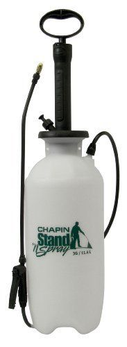 Chapin 29003 Stand 'N Spray No Bend Poly Sprayer, 3 Gallon by Chapin. $39.74. Pressure relief valve. 18-inch wand for no-bend spraying. Anti-clog filter. The Chapin 29003 Stand 'N Spray No Bend 3 Gallon Poly Sprayer is your no bend option. The extended pump and wand allows you to pressurize the tank without bending over. Features include an 18-Inch wand and a pressure relief valve that automatically releases pressure when needed. The translucent design lets you...