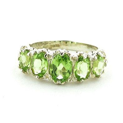 Sterling Silver Ladies 3.00ct Peridot Ring: ---See more athttp://astore.amazon.com/rngswomgm-20