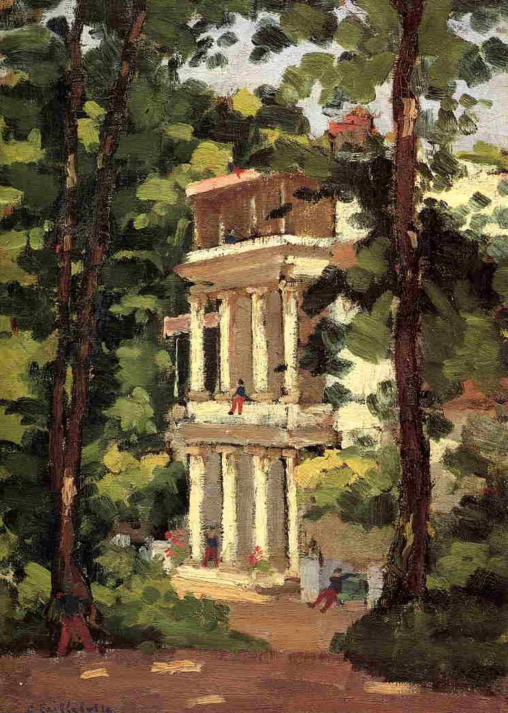 Yerres, Colonnade of the Casin - Gustave Caillebotte, c.1870