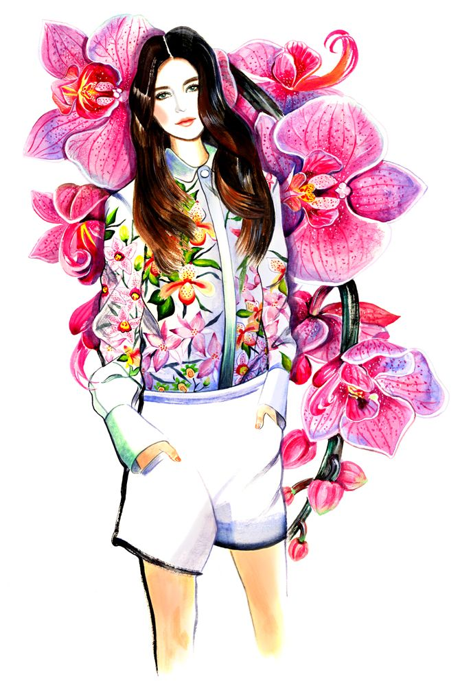 Chloé Spring Summer 2012 RTW #fashion #illustration #fashionillustration
