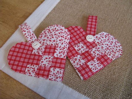 Video Tutorial for this patchwork heart ~ http://www.curbly.com/users/diy-maven/posts/7994-the-best-of-curbly-the-valentine-s-day-edition