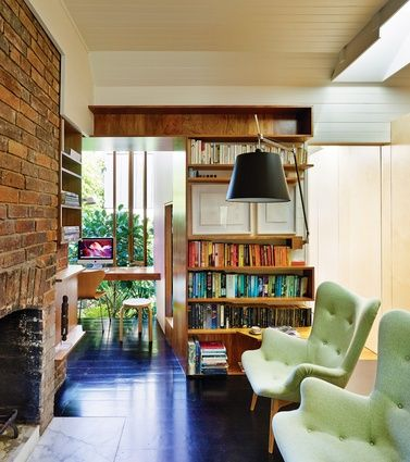 The new elements of the house were deeply informed by the original dwelling – the existing fireplace, for one, inspiring its extensive brickwork.
