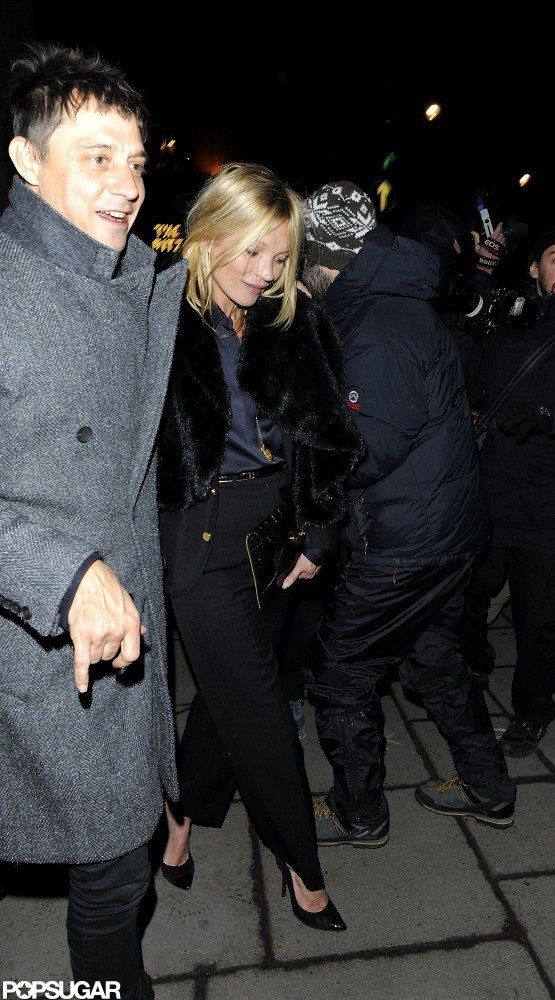 Kate Moss and Jamie Hince Stick Together During Date Night #katemoss
