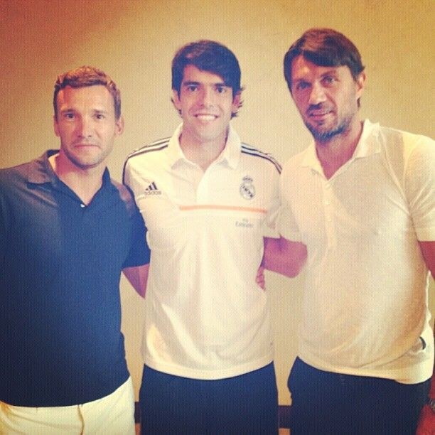 The legends #sheva #kaka #maldini