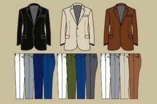 Сочетание цветов в одежде мужских костюмов