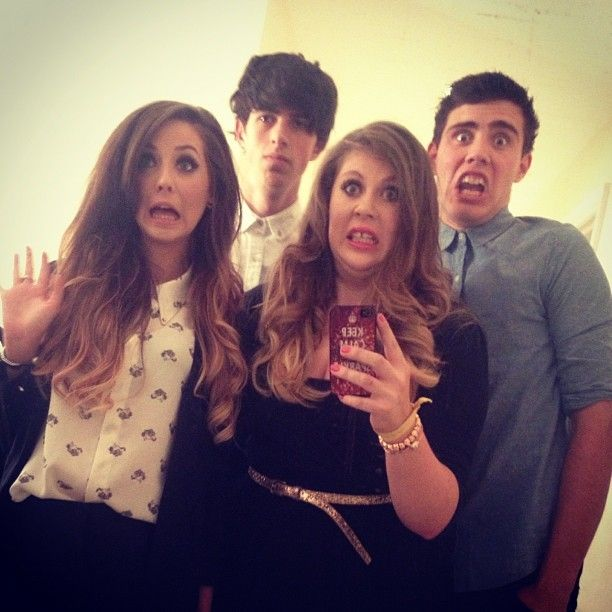 Zoe, Louise, Sam and Alfie
