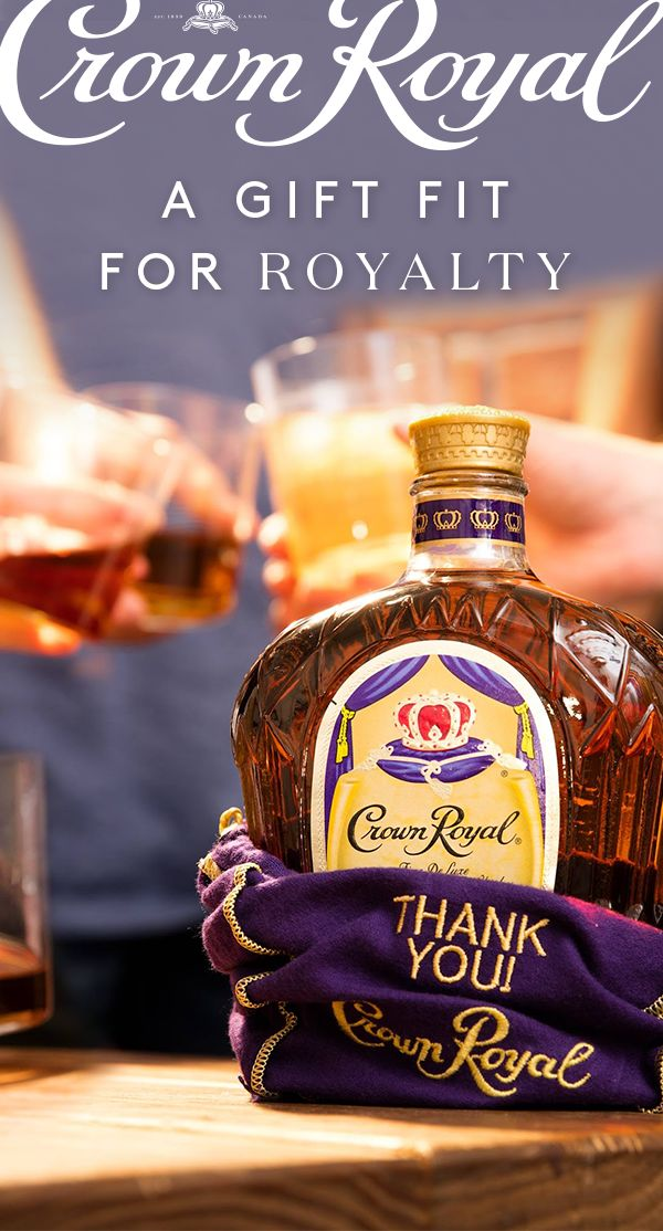 If the bag doesn't thank you enough, the whisky will. Whether celebrating accomplishments, milestones, or showing generosity, give Crown Royal as a gift to friends and family—it's a gift fit for royalty.