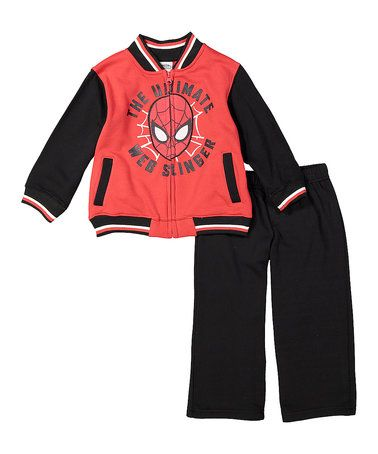 Look what I found on #zulily! Red & Black 'Ultimate Spider-Man' Sweatshirt & Pants - Toddler #zulilyfinds