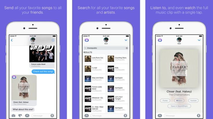 SoundShare's new iMessage app lets you text your friends entire songs