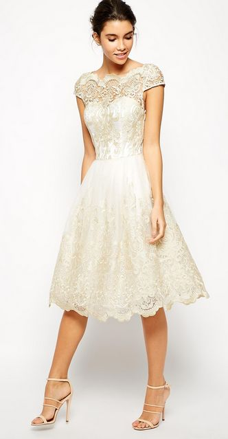 Chi Chi London Metallic Lace Dress. Possible vow renewal dress for next year?