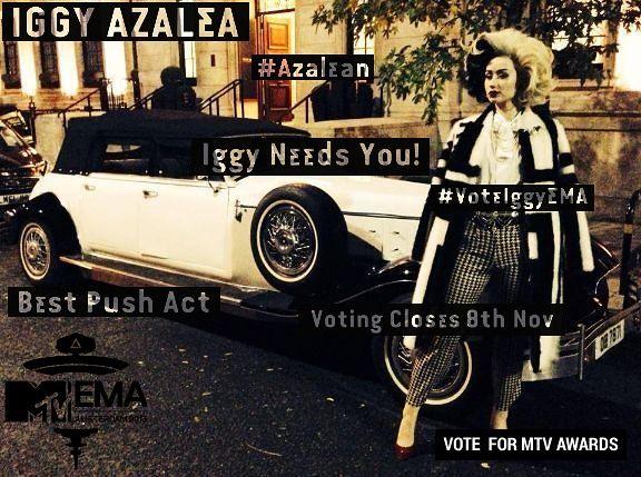 #VoteIggyMTVEMA