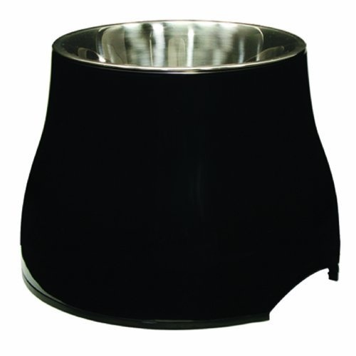 Dogit Elevated Dish, Black, Large