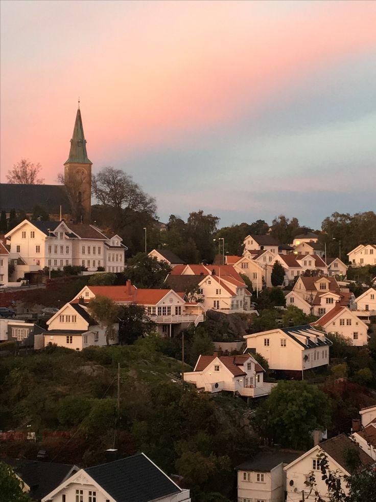 Utsikt i oktober. Barbu, Arendal.