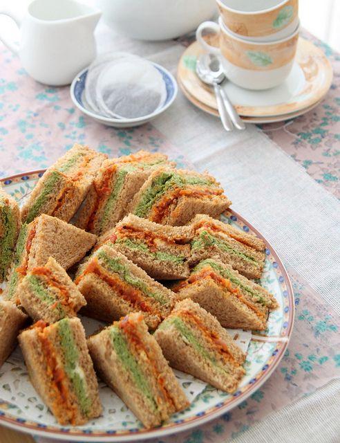 Indian chutney tea sandwiches