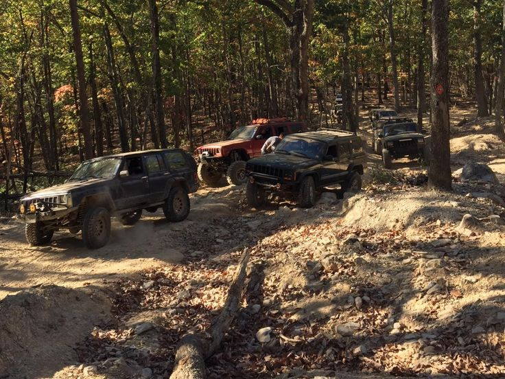 O|||||||O #jeep #xj #offroad #trails - Uwharrie National Forest in NC