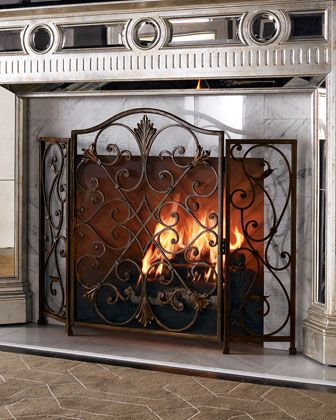 screens fireplace decorative for diagonal top with small ideas candles