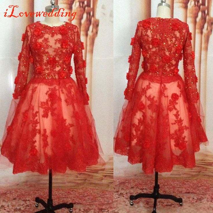 Custom Made Short Graduation Dresses with Sleeve Tulle Applique Beading Red Formal Occasion Party Gowns Custom Made Cap Sleeve