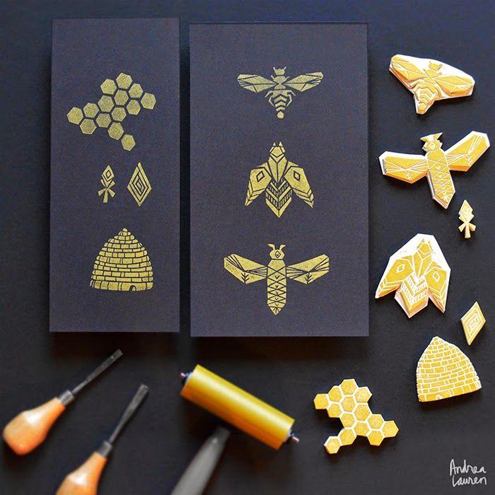 .// Block Printing Stamps by Andrea Lauren. Pinned by Ellen Rus.