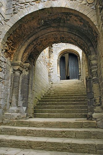Entrance to the Keep, 12th C Castle Rising, Norfolk