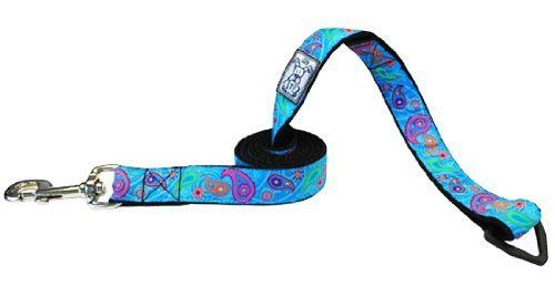 RC Pet Products Dog Leash, 3/4-Inch by 6-Feet, Tropical Paisley