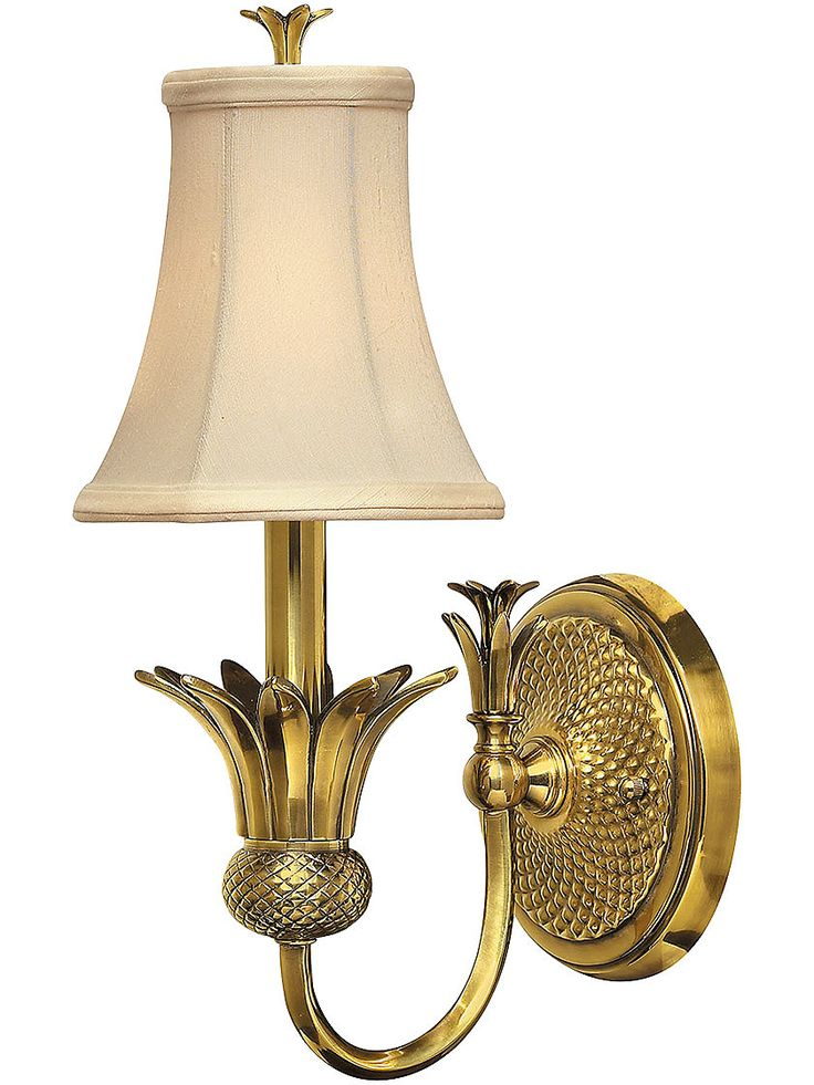 Plantation Single Light Sconce With Silk Shade | House Of Antique Hardware