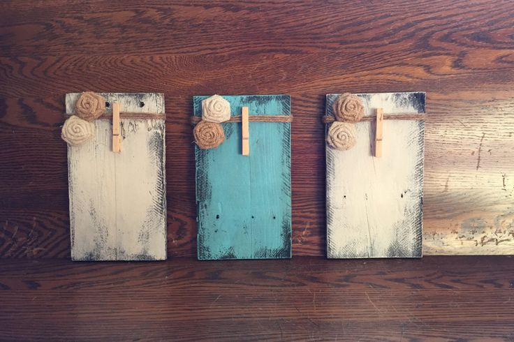 Set of 3 Clothespin Picture Frames Made From Pallet Wood, Rustic Clothespin Picture Frames, Clothespin Picture Frame by BMTCrafts on Etsy https://www.etsy.com/listing/248405425/set-of-3-clothespin-picture-frames-made