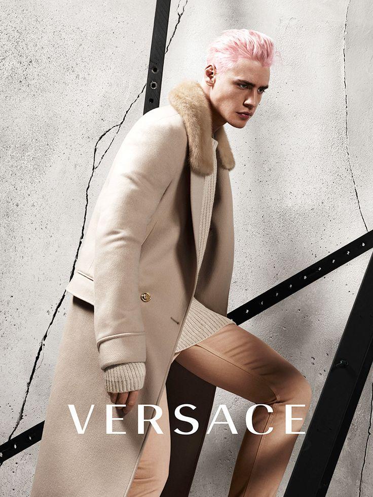 New hair: Oliver Stummvoll, Versace FW 2015 Ad campaign, ph: Mert&Marcus