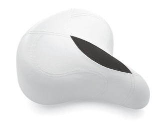 ERGO SADDLE w/ELASTOMERS (White) Electrabike Online Store | Bike Parts and Accessories
