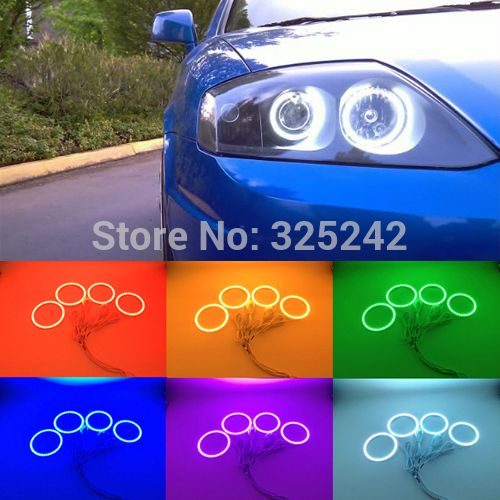 For Hyundai Tiburon 2003-2006 Excellent Angel Eyes kit Multi-Color Ultrabright RGB LED Angel Eyes Halo Rings - http://www.aliexpress.com/item/For-Hyundai-Tiburon-2003-2006-Excellent-Angel-Eyes-kit-Multi-Color-Ultrabright-RGB-LED-Angel-Eyes-Halo-Rings/32335408612.html