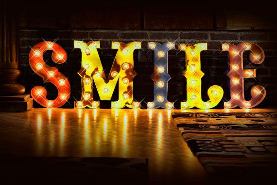 marquee letter marquee light carnival letter photo booth lighted marquee sign antiqued marqee sign vintage style smile marquee we vintage style