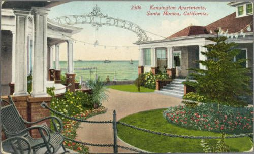 Page 1 :: Kensington Apartments, Santa Monica, California :: Historic Postcards. http://digitallibrary.usc.edu/cdm/ref/collection/p15799coll77/id/235