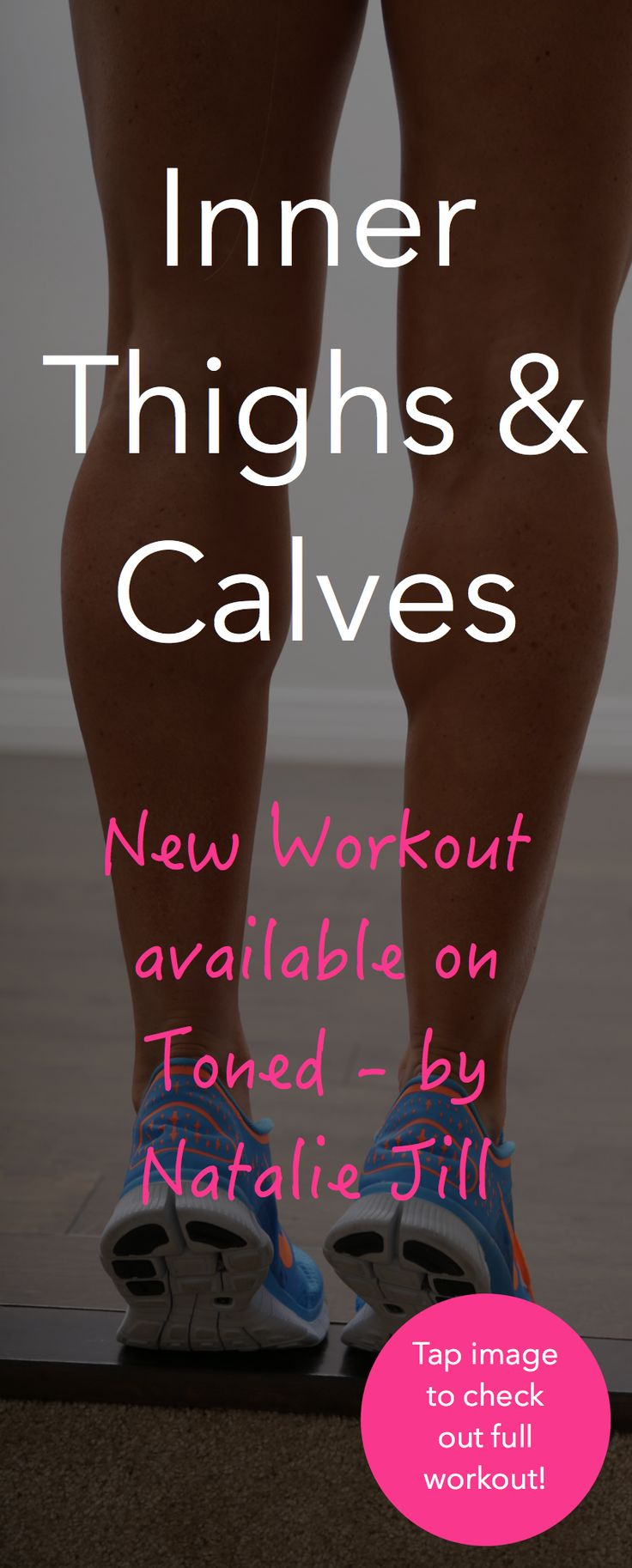 """New Inner thigh & calves workout is up on my """"TONED by Natalie Jill App!"""" Download my app to get in on the action :)   NEW workout added every week!"""