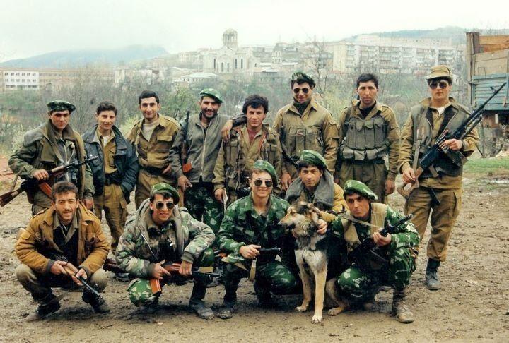 Nagorno Karabakh War volunteers in Armenian side.