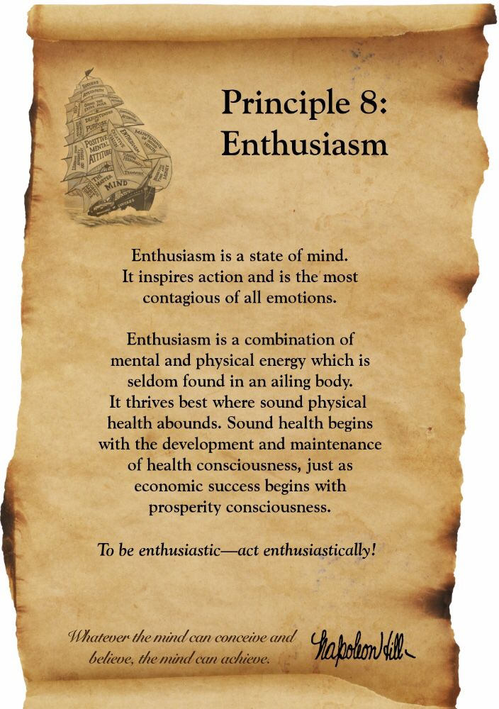Think And Grow Rich Napolean Hill Principle 60 Enthusiasm Stunning Think And Grow Rich Quotes