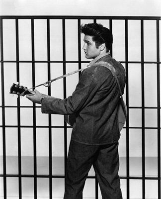 """In character as """"Vince Everett"""" in """"Jailhouse Rock"""", 1957"""
