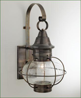 Vidalia onion side mount a new england favorite onion lantern with clear glass four porch lightingbathroom