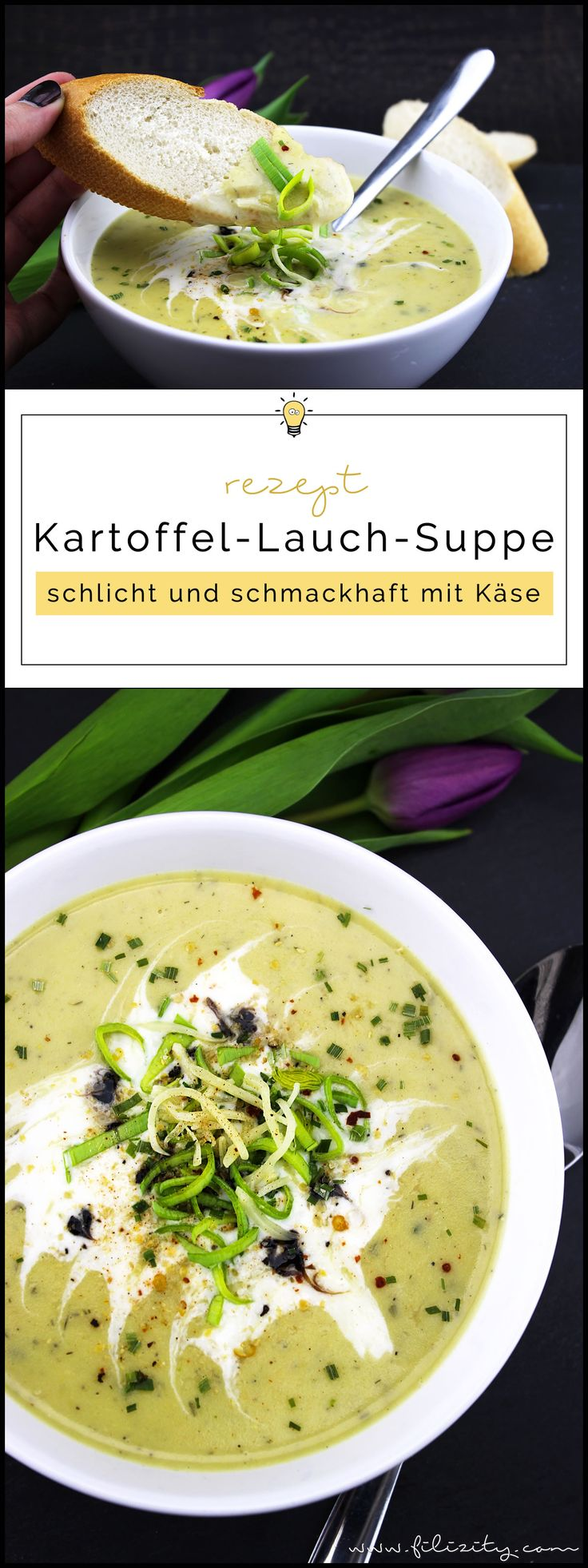 Herbst-Rezept: Kartoffel-Lauch-Suppe mit Käse und Kräutern | Filizity.com | Food-Blog aus Koblenz #suppe #herbst #frühling #soulfood