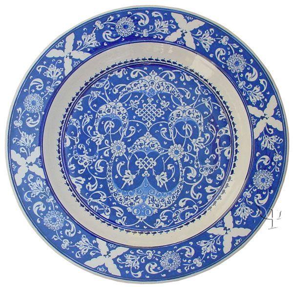 Iznik Design Ceramic Plate - Baba Nakkash yurdan.com